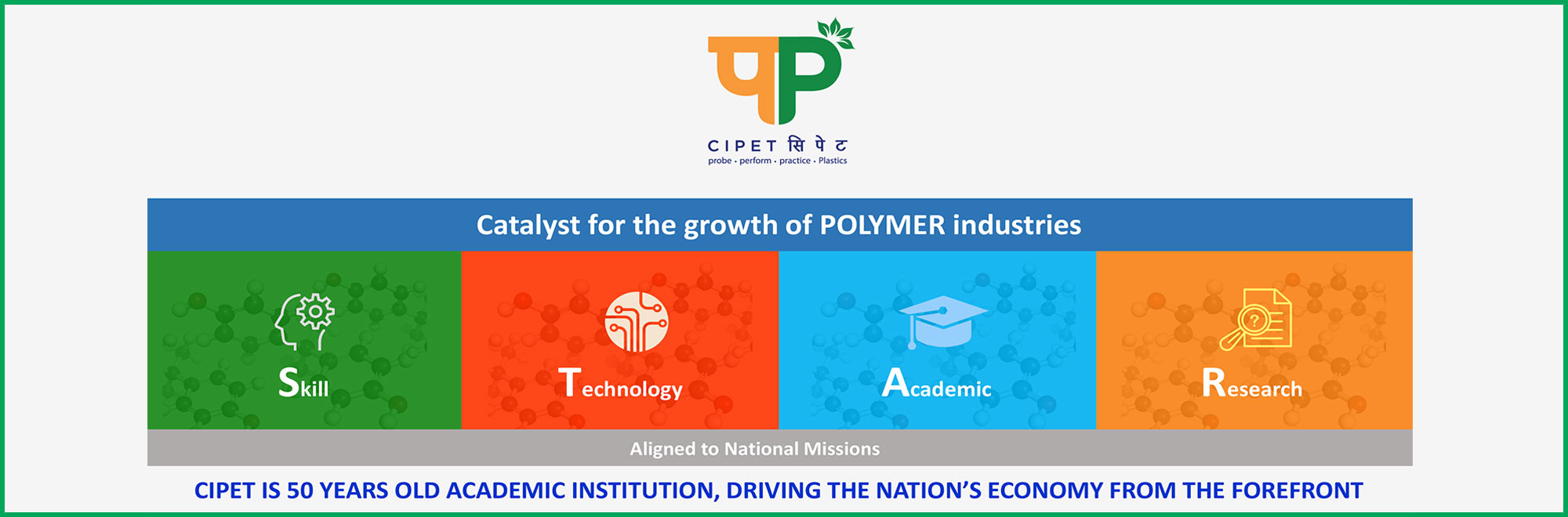 CIPET IS 50 YEARS OLD ACADEMIC INSTITUTION, DRIVING THE NATION'S ECONOMY FROM THE FOREFRONT
